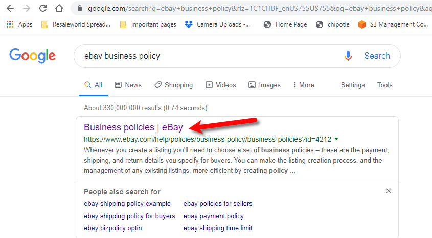 Ebay Business Policies Overview